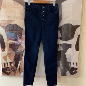 Massimo Dutti high rise button fly skinny jeans